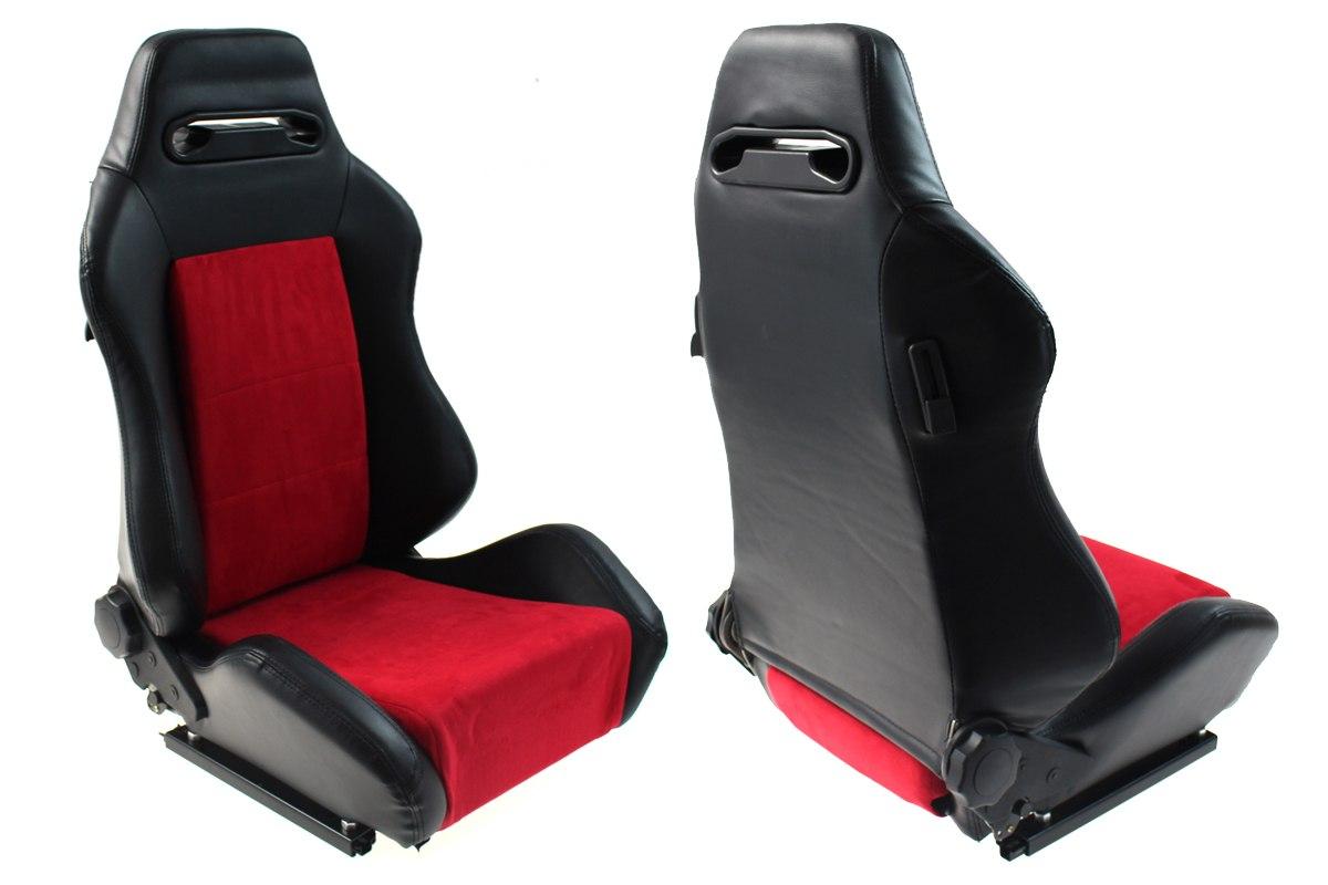 Fotel sportowy R-LOOK Skóra Black Red